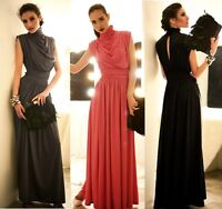New Womens Ladies Long Maxi Prom Evening Dress 3 Colors Size 8 10 12 14