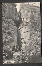 1907 post card Twin Rocks Rock City Olean NY to W A Coles Metuchen NJ