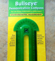 Bullseye Demonstration Compass, Protractor, Ruler, Safe-T, Learning Res.  L1508