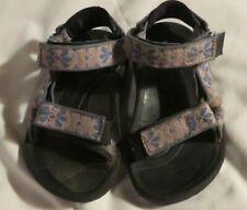 Teva Hurricane sandals girls toddler size 10 blue and pink straps
