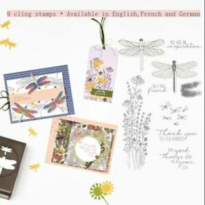 Dragonfly Flowers Cling Stamps Or Metal Cutting Dies For DIY Scrapbooking Craft