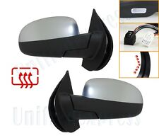SATIN-CHROME Power Folding Mirrors-Heated+Memory+LED Signal+Puddle~GM Pickup SUV