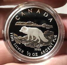 2004 CANADA 1/2oz SILVER PROOF $4 COIN. ARTIC FOX COLLECTOR COIN. FREE SHIPPING