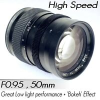50mm F0.95 F/0.95 Camera Lens suits Sony E Mount Full APS-C NEX Series a7 a7s