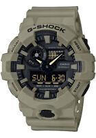 NEW CASIO G-SHOCK GA-700UC-5A TAN ALARM CHRONO WORLD TIME WATCH
