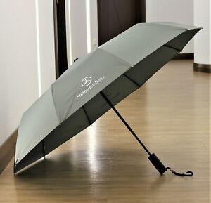 Krago Auto Open Close Folding Umbrella with Automobile Logo Mercedes Grey