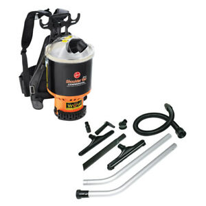 Hoover C2401 6.4 Qt. Commercial Backpack Vacuum Cleaner with Attachments