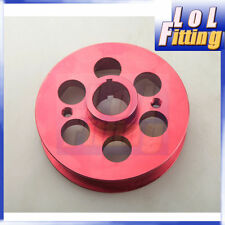 Red Racing Lightweight Crank Pulley Kit For Toyota Mrs / Celica 1.8WTI Aluminum