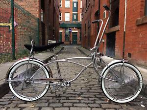 "20"" Inch Wheel American Classic Chrome Cruiser Chopper One Size Lowrider Bike"