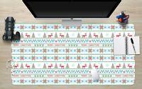 3D Schneeflocke H906 Christmas Rutschfest Schreibtisch Matte Tastatur Pad Amy