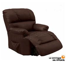 Sillón de Masaje Relax modelo Irene Eléctrico con reclinación automática Marrón