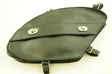 TOP QUALITY REAL LEATHER MAN BAG FOR MEN'S CRUISER BIKES MADE BY ELECTRA BLACK