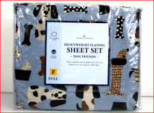 PUPPY DOGS Heavy Weight 5 oz FLANNEL Sheet Set -100% Cotton BLUE - FULL 🌟NEW🌟