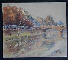 ROBERT FREYSZ (1892/1967)  -   QUAI KLEBER STRASBOURG   - Signé