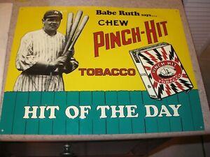 Babe Ruth 11x14 Modern Metal Advertisement Sign Pinch-Hit Tobacco NY Yankees HOF