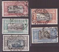Italia Regno 1923, serie Manzoni fino al valore da 1 lira usata  -CT24
