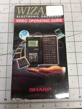 Wizard Electronic Organizer Sharp Video Operating Guide VHS Tape SEALED NEW