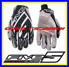 Guanti Moto racing FIVE MXF PRORIDER Tg.XL/11 Nero Bianco Cross Enduro MTB BMX