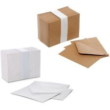 Mini Envelopes Small White Kraft Brown 85mm x 110mm Wedding RSVP Cards