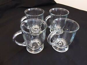 Newnan Anchor Hocking, Mug Clear Cafe Crystal 16 Ounce # 11982 Irish Coffee