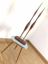 XXL MID CENTURY Skulptur Kranich Reiher DUO 50 cm 60er 70er Vintage Holz