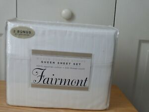 Fairmont Queen Sheet Set - New in Package - Linen and Things - 100% Egyptian Cot