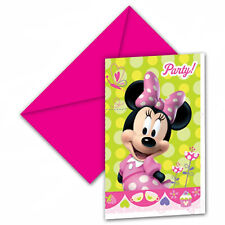 Disney Minnie Mouse Party Invitations and Envelopes X 6