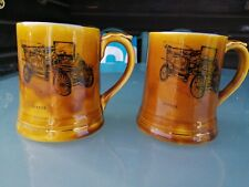 Two Identical Collectible Wade Ornamental Mugs (Design Authenticated By the...