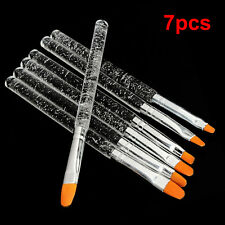 7pcs Professional Nail Art UV Gel Painting Drawing Brush Acrylic Flat Brush Set