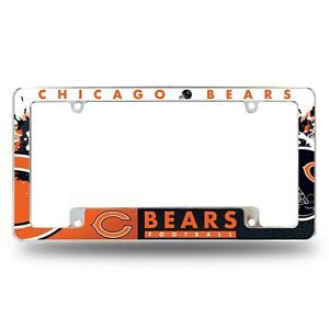 Chicago Bears Chrome ALL OVER Premium License Plate Frame Cover Truck Car