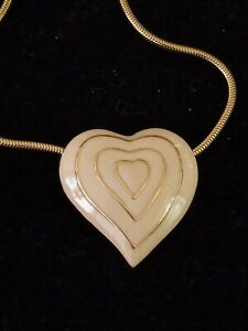 Monet Gold Plated Heart Pendant Necklace-14 In.