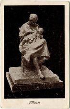 1931 Trento - Statua madre, auguri natale Trescore Ala - FP B/N VG