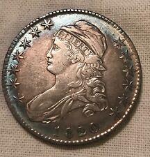 1820/19  bust half dollar, O -101, curl base 2  , XF , extra fine