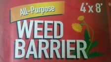 Weed Barrier Fabric 4x8 ft/ 32sq ft. Black Garden Fabric Cover, Patio Underliner