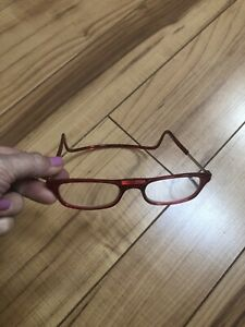 Clic Eyewear +3.00 Magnetic Goggles Red Wrap Around Reading Glasses