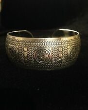 Bracelet Cuff Silver Boho Ethnic Tribal Gypsy Bohemian Adjustable B1012