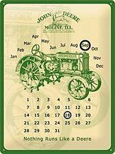 John Deere embossed everlasting metal calendar 400mm x 300mm (na)