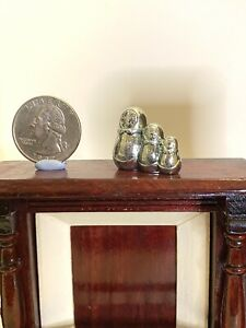 Dollhouse Miniature 1:12 Russian Nesting Dolls Mantle Statue (Metal) Statue Only