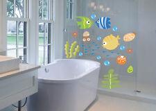Sea Animal Ocean Fish Wall Stickers Bath Room Kids Wall Decals Mural Decor xbㅖ