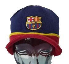 FC Barcelona  Visor Red  Beanie Cap Hat  By Rhinox