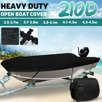 AU Waterproof Trailerable Heavy Duty Open Boat Cover Marine Grade 210D  //