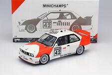 BMW M3 (E30) #42 Cor Euser bmw Dealerteam Gara Zolder 1991 1:18 Minichamps