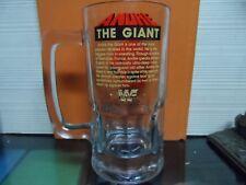ANDRE THE GIANT GLASS MUG - WWF - 1985 TITAN SPORTS INC