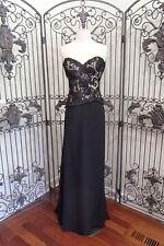 V89 CAMERON BLAKE 213635 SZ 6 BLACK $485 #711  FORMAL GOWN DRESS