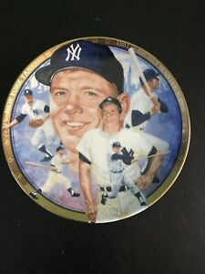 Mickey Mantle Collectible Plate Yankees 1992 Limited Edition.