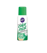 Wilton COLOR MIST Edible Food Color Spray Paint GREEN Airbrushing Effect