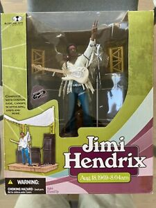 Jimi Hendrix Mcfarlane Toys 2003 New Action Figure Box Set