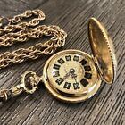 Womens Vintage SHEFFIELD Gold Tone Necklace Pendant Mechanical Watch NOT WORK