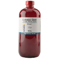 True Colloidal Gold (No Chemicals) - 500 mL of 50 ppm in glass bottle