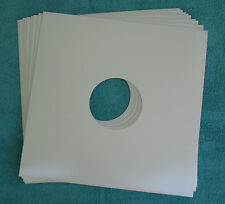 """New   10 Glossy White Cardboard Album Jackets 12"""" With Hole"""
